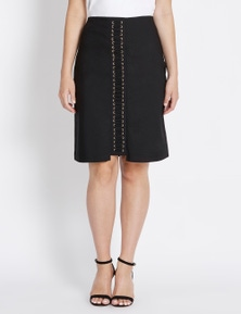 Table Eight Eyelet Detail Pencil Skirt