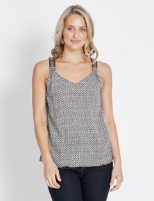 Rockmans Beaded Strap Top