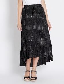 Rockmans Maxi Tiered High Lo Skirt
