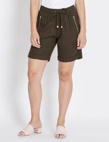 Rockmans Mid Thigh Linen Short
