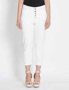 Rockmans Capri Button Front Slim Regular Jean