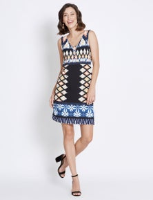 Rockmans Sleeveless Tie Dye Shift Dress