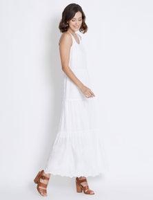 Rockmans Sleeveless Embroidery Anglaise Maxi Dress