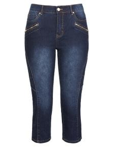 Rockmans Crop Panelled Leg Jean