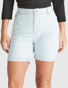 Rockmans Knee Length Stripe Short