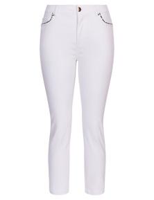 Rockmans 7/8 Length Contrast Trim Slim Leg Jean
