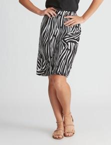 Rockmans Knee Length ITY Skirt
