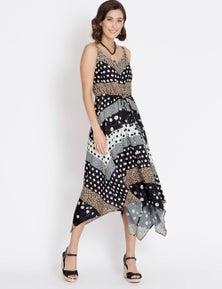 Rockmans Sleeveless Multi Print Maxi Dress