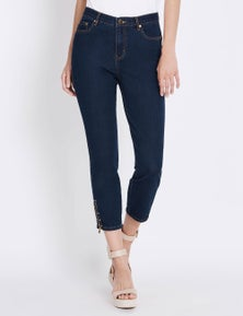 Rockmans 7/8 Length Zip and Stud Hem Jean