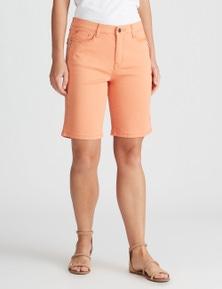Rockmans Knee Length Zip Short