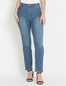 Rockmans Full Length Comfort Waist Short Jean