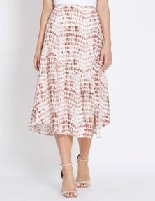 Table Eight Tie Dye Midi Skirt