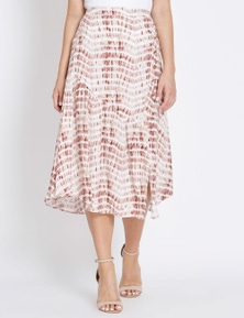Table Eight Tie Dye Midi Skirt