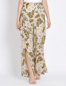 Table Eight Floral Palm Wrap Pant