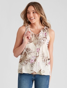 Table Eight Sleeveless Floral Print Top