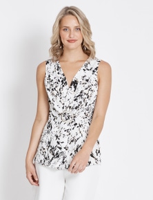Table Eight Sleeveless Ring Detail Top