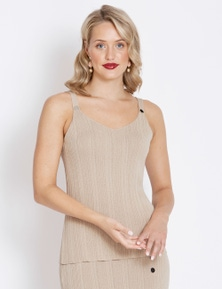 Table Eight Button Front Knit Tank