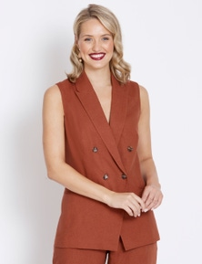 Table Eight Button Front Vest