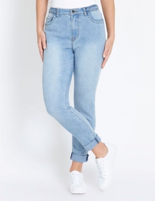 Rockmans Full Length Slim Leg Braid Detail Jean