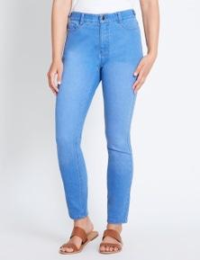 Rockmans Full Length Button Pocket Brt Wsh Jean