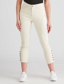 Rockmans 7/8 Contrast Stitch Stud Jean