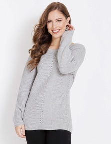 Table Eight Long Sleeve Pointelle Knit