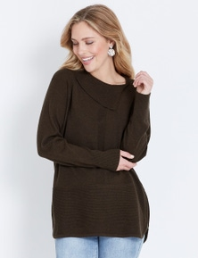 Table Eight Roll Neck Zipped Knit