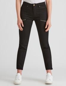 Rockmans Full Length Zip Panelled Phoenix Jean