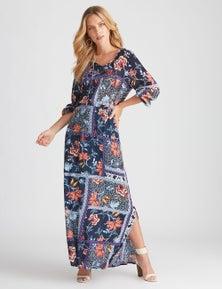 Rockmans Patchwork Print Maxi Dress