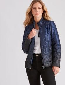 Rockmans Longsleeve Ombre Puffer Jacket