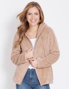 Rockmans Longsleeve Hooded Snuggle Jacket