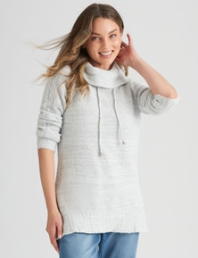 Rockmans Long Sleeve Boucle Jumper