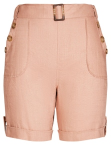 Rockmans Mid Thigh Linen Short