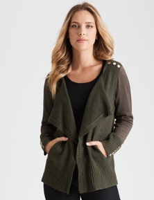 Rockmans Long Sleeve Utility Cardi