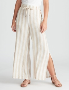 Rockmans Full Length Wide Leg Linen Pant