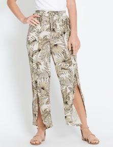 Rockmans Crop Tropical Print Pant
