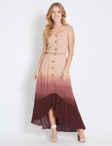 Rockmans Sleeveless Eden Ombre Midi Dress