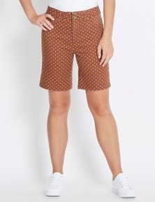 Rockmans Mid Thigh Button Up Short