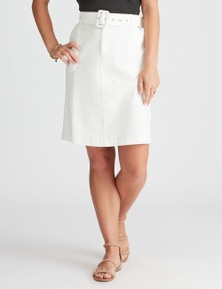 Rockmans Knee Length Printed Utility Skirt