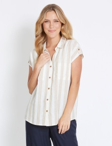 Rockmans Extended Sleeve Button Through Shirt