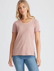 SCOOP STRIPE TEE