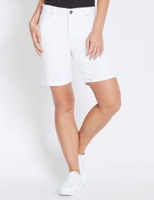Rockmans Mid Thigh Solid Colour Short