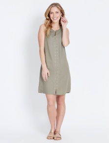 Rockmans Eyelet Shift Dress