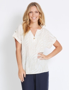 Rockmans Extended Sleeve Tab Detail Shirt