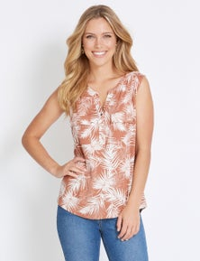 Rockmans Sleeveless Soft Shirt Style Top