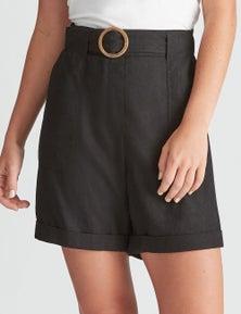 Rockmans Belted Linen Short