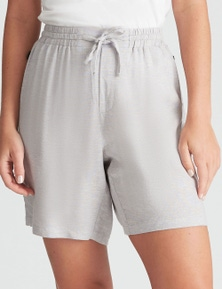Rockmans Side Button Linen Short