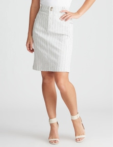 Rockmans Pencil Denim Skirt