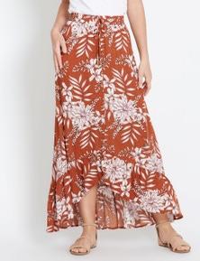 Rockmans Floral Skirt