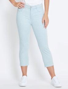 Rockmans Crop Striped Jean
